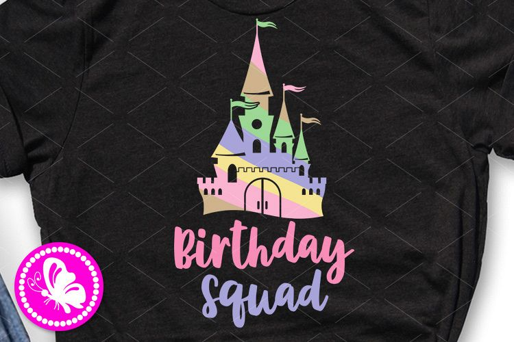 Birthday squad svg Magic palace Colorful castle clip art example image 1