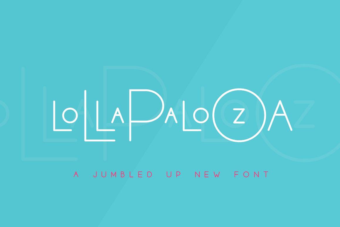 Lollapalooza Font Trio example image 1