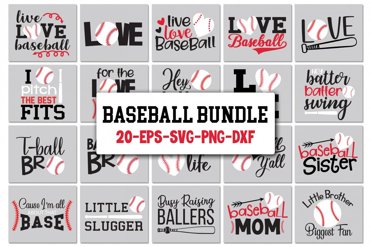 Baseball Quotes Bundle Svg example image 1