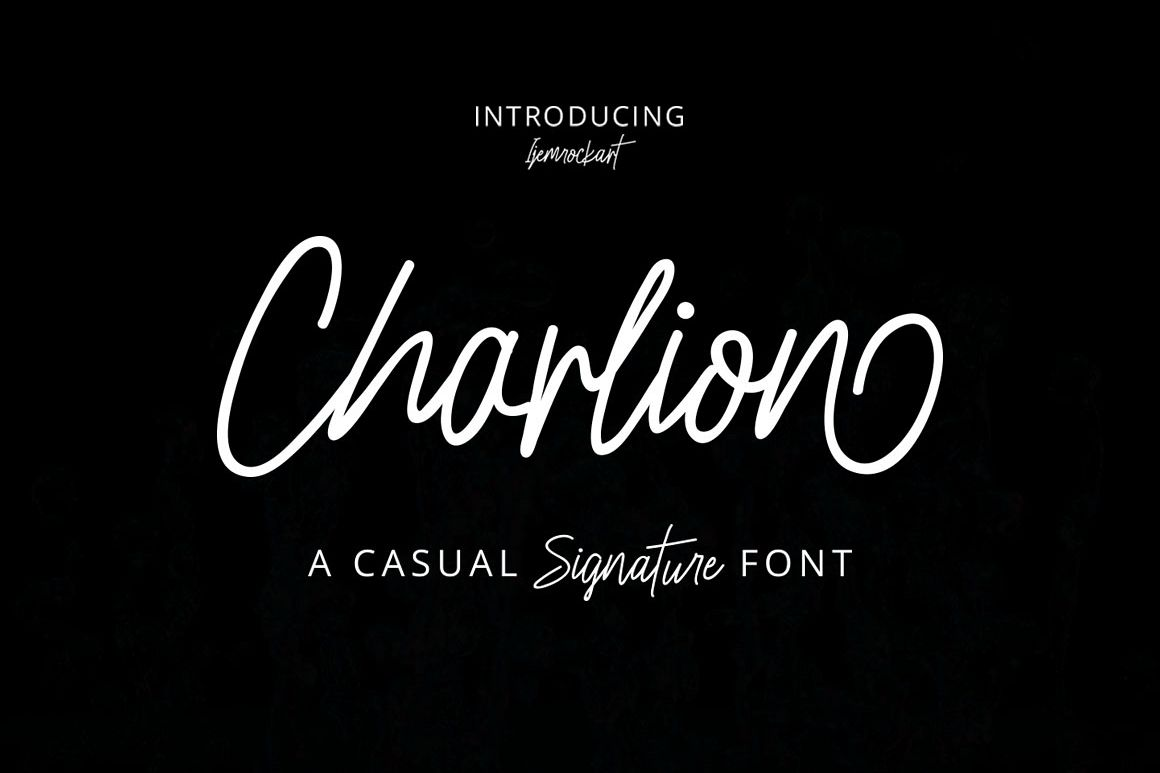 Charlion Script 2 Style example image 1