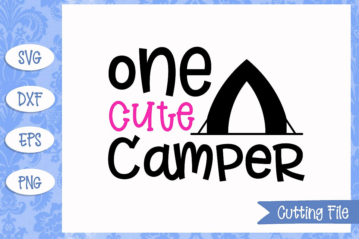 One cute camper SVG File example image 1