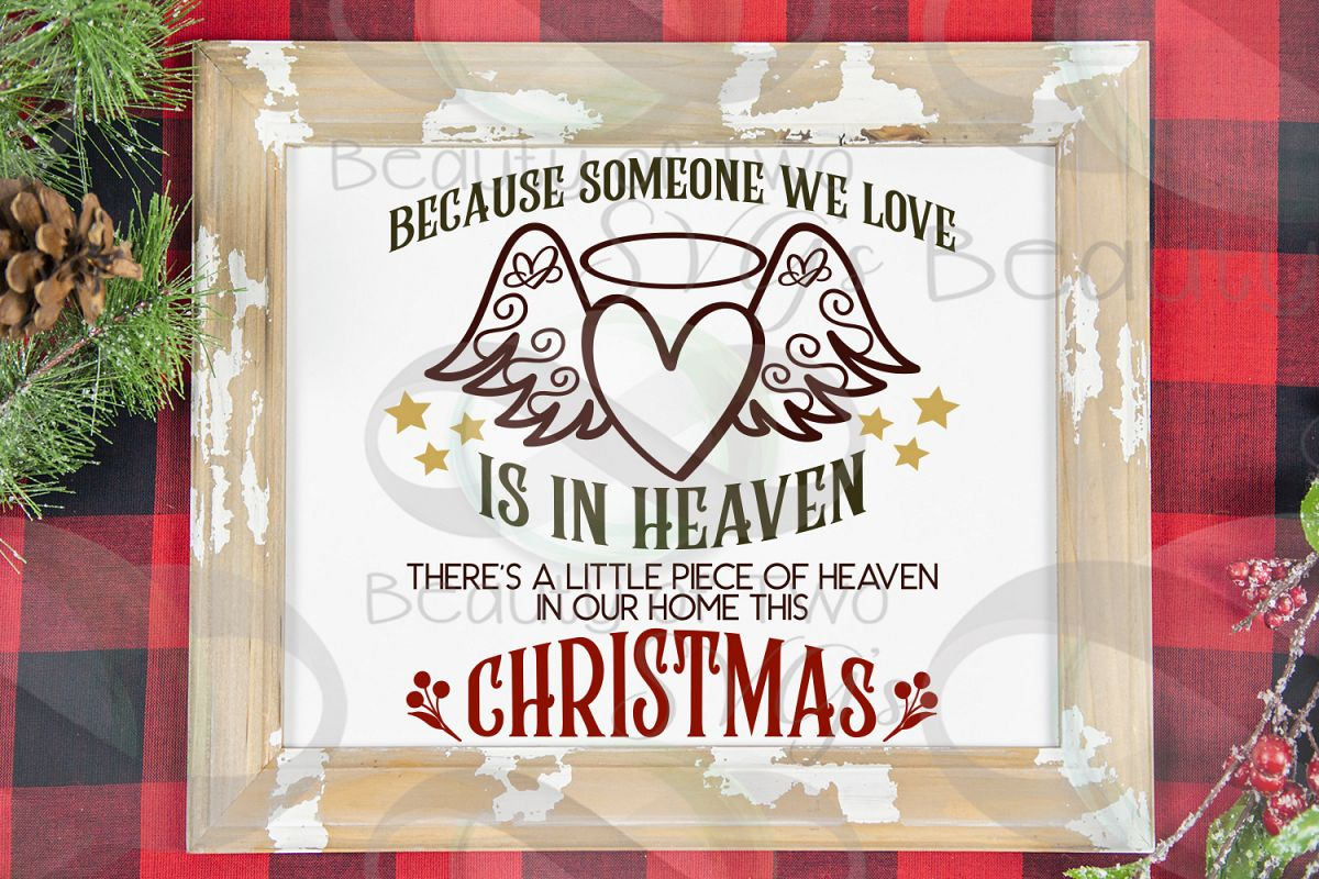 Christmas Angel Memoriam svg, Heaven in our home svg, angel example image 1