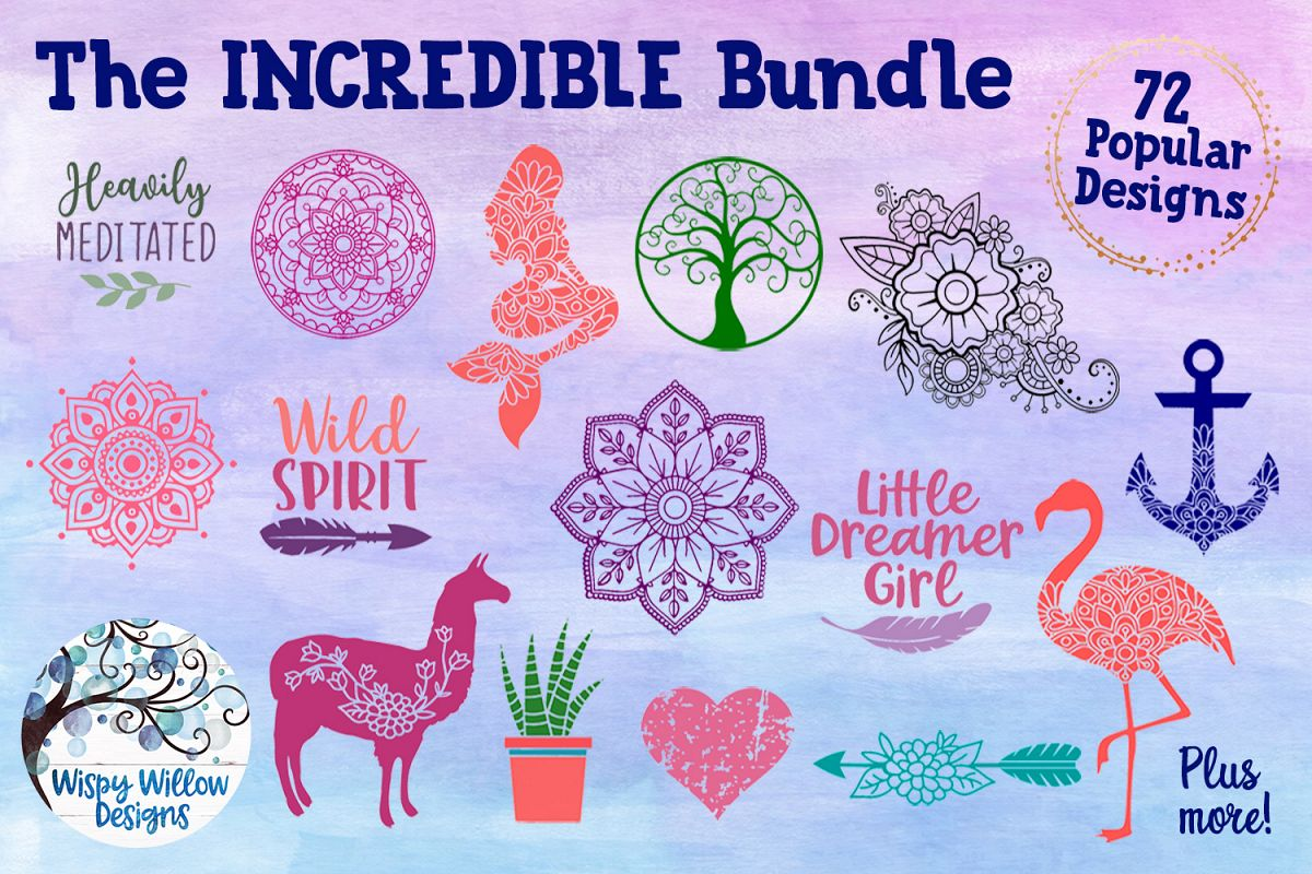 The Incredible Bundle - SVG Cut Files example image 1