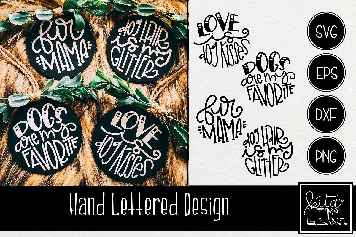 Dog Hand Lettered Rounds SVG Bundle 2 example image 1