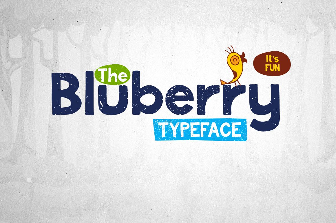 Bluberry Typeface example image 1