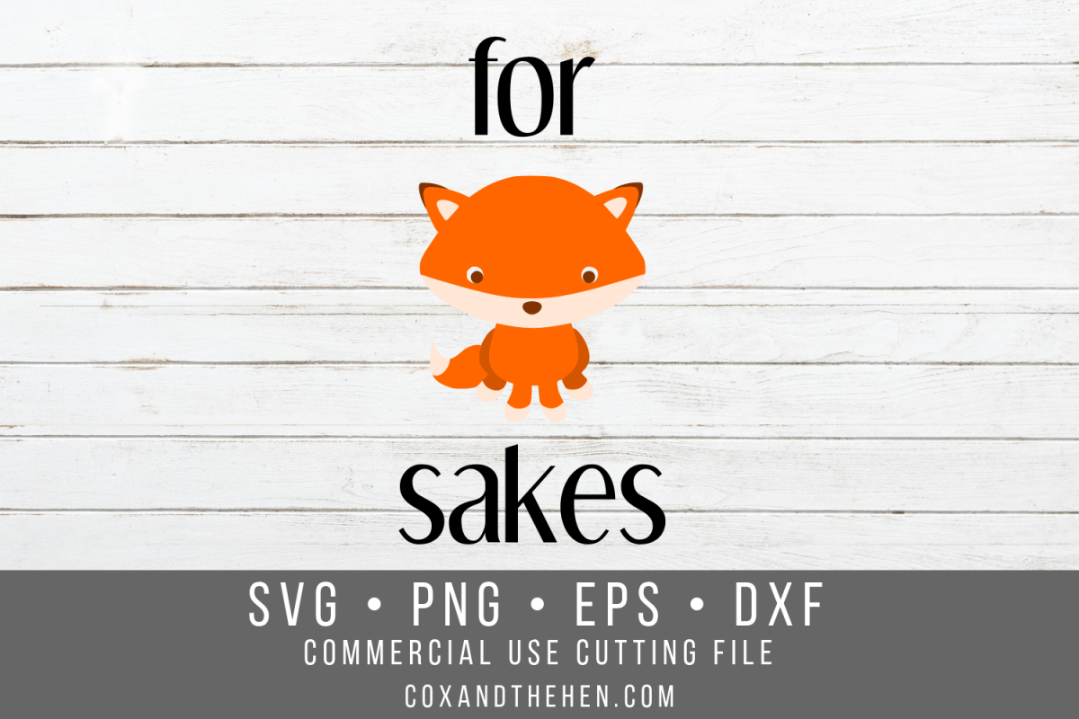 For Fox Sakes SVG example image 1