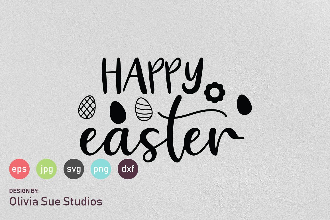 Happy Easter SVG Cut File example image 1
