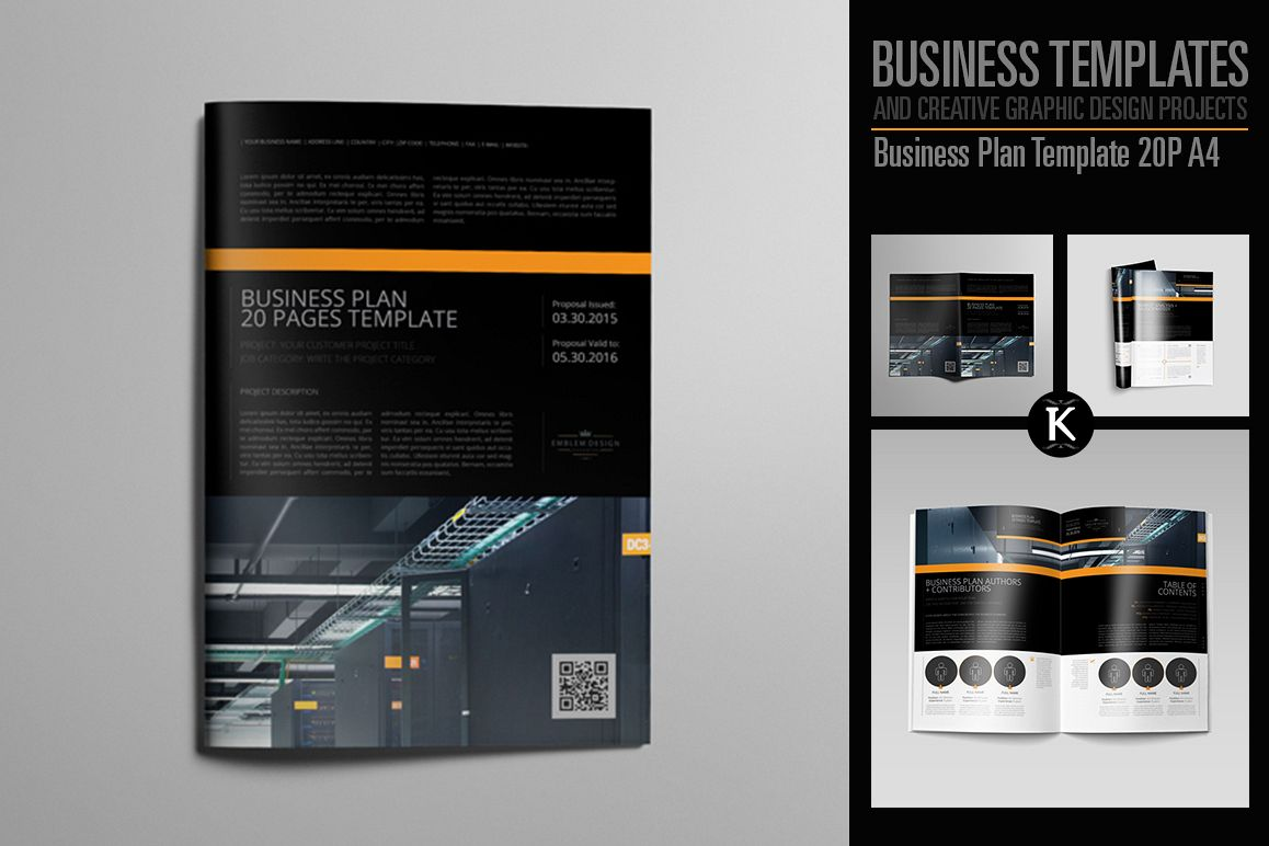Business Plan Template 20P A4 example image 1