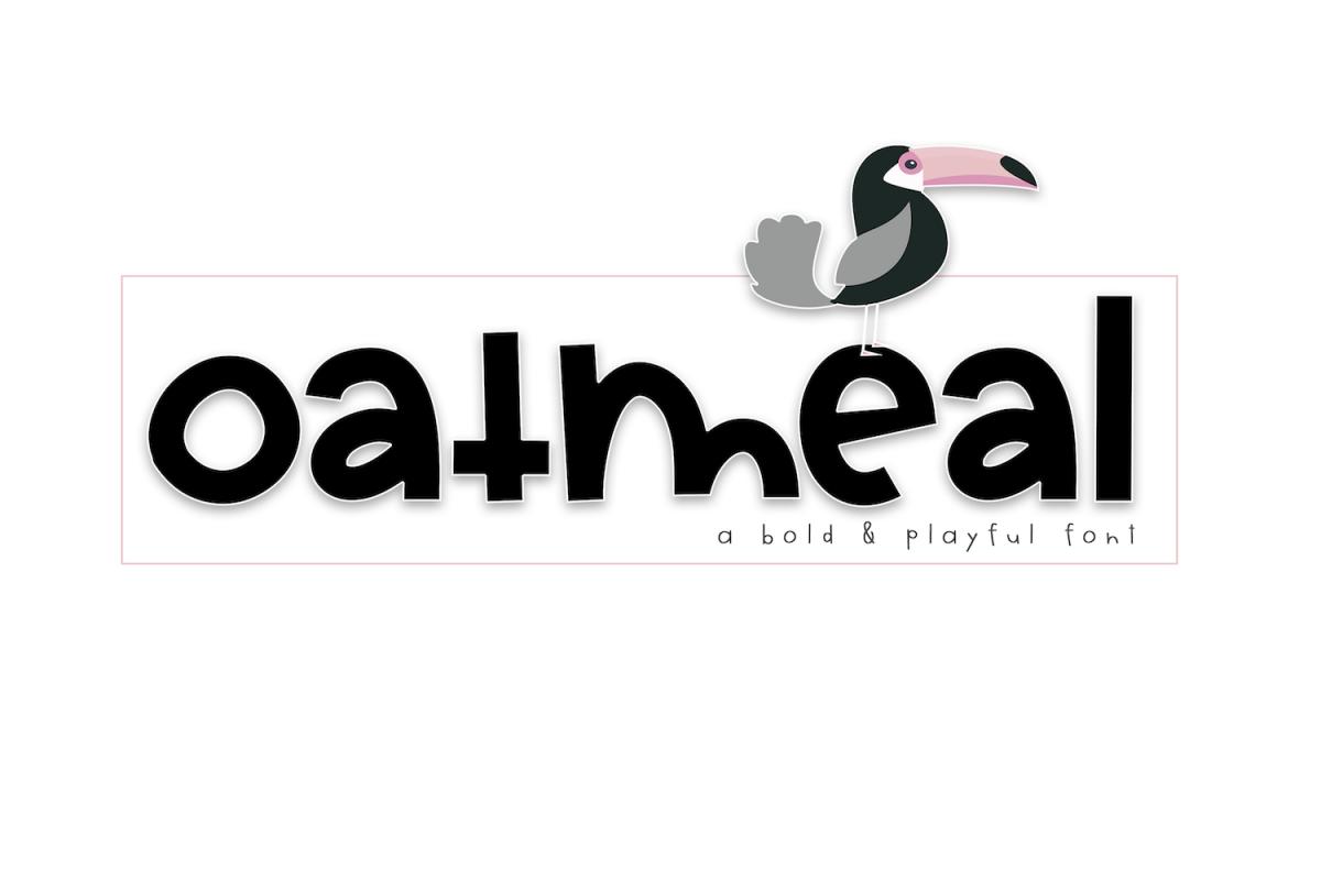 Oatmeal - A Bold Handwritten Font example image 1