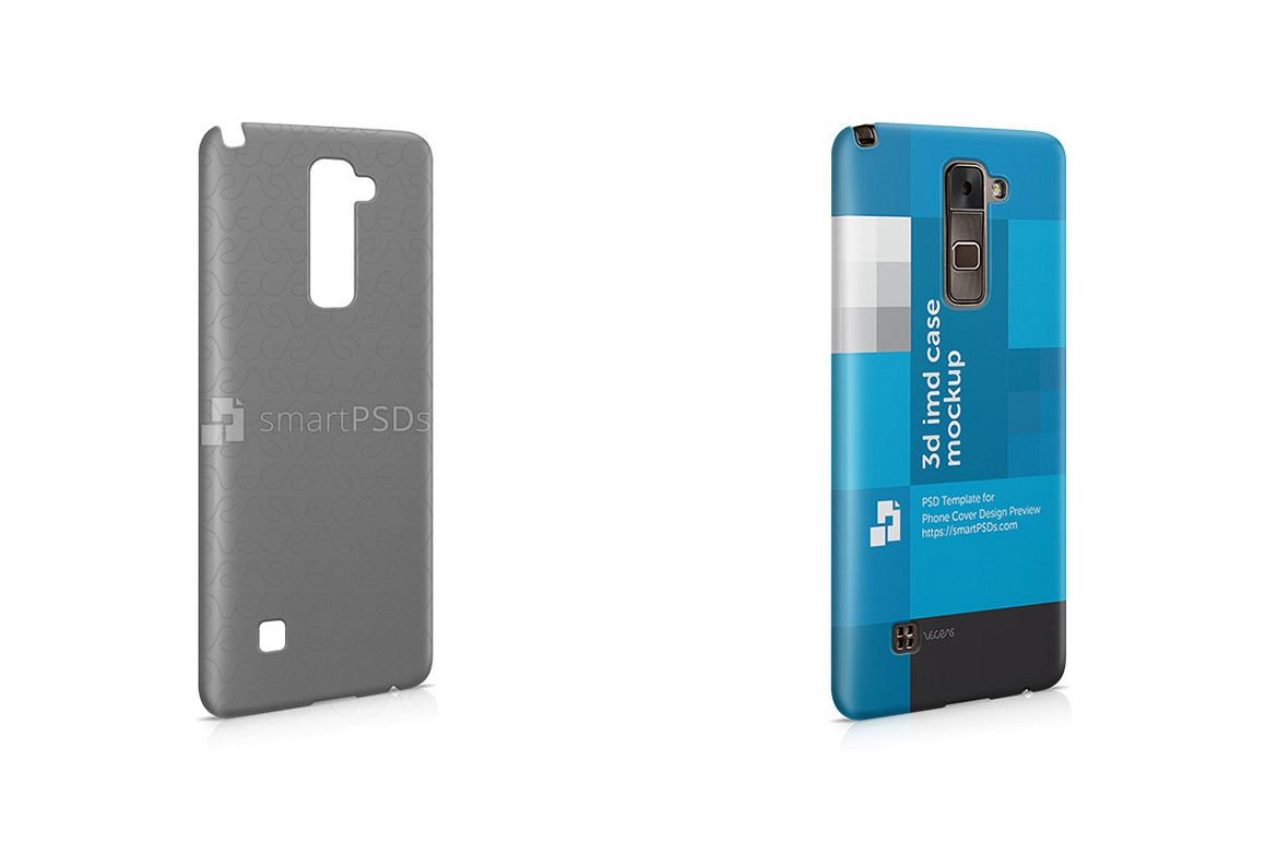 LG Stylus 2 3d IMD Mobile Case Design Mockup- Right View 2016  example image 1