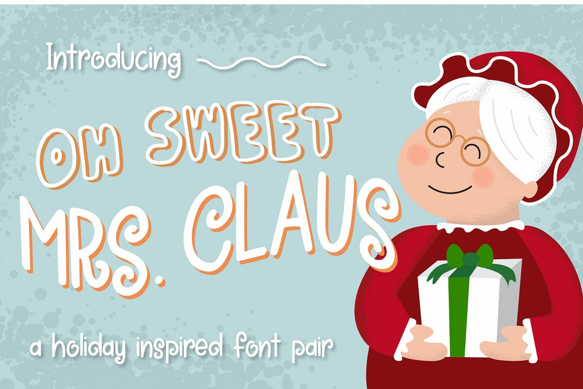Oh Sweet Mrs. Claus Font Duo example image 1