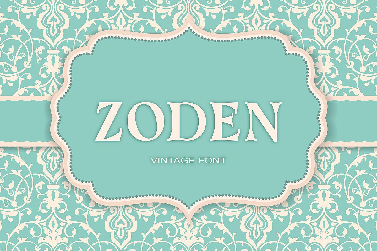 Zoden Font example image 1