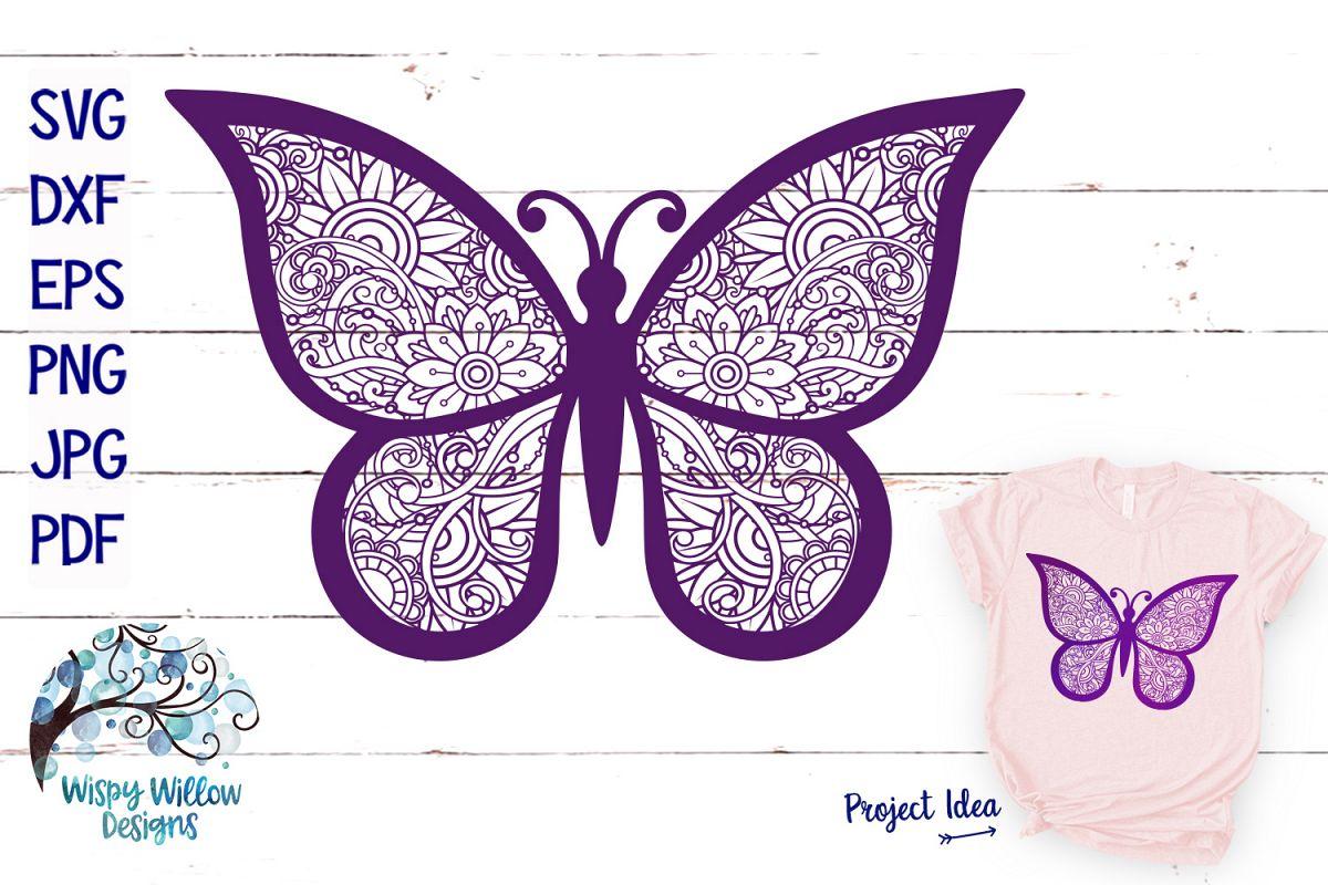 Download Butterfly Zentangle SVG | Animal Mandala SVG | Summer SVG ...