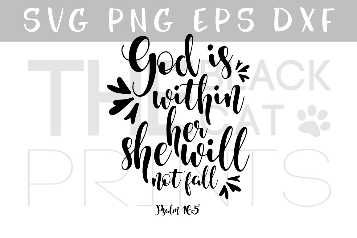Psalm 46:5 SVG Bible verse SVG PNG EPS DXF example image 1