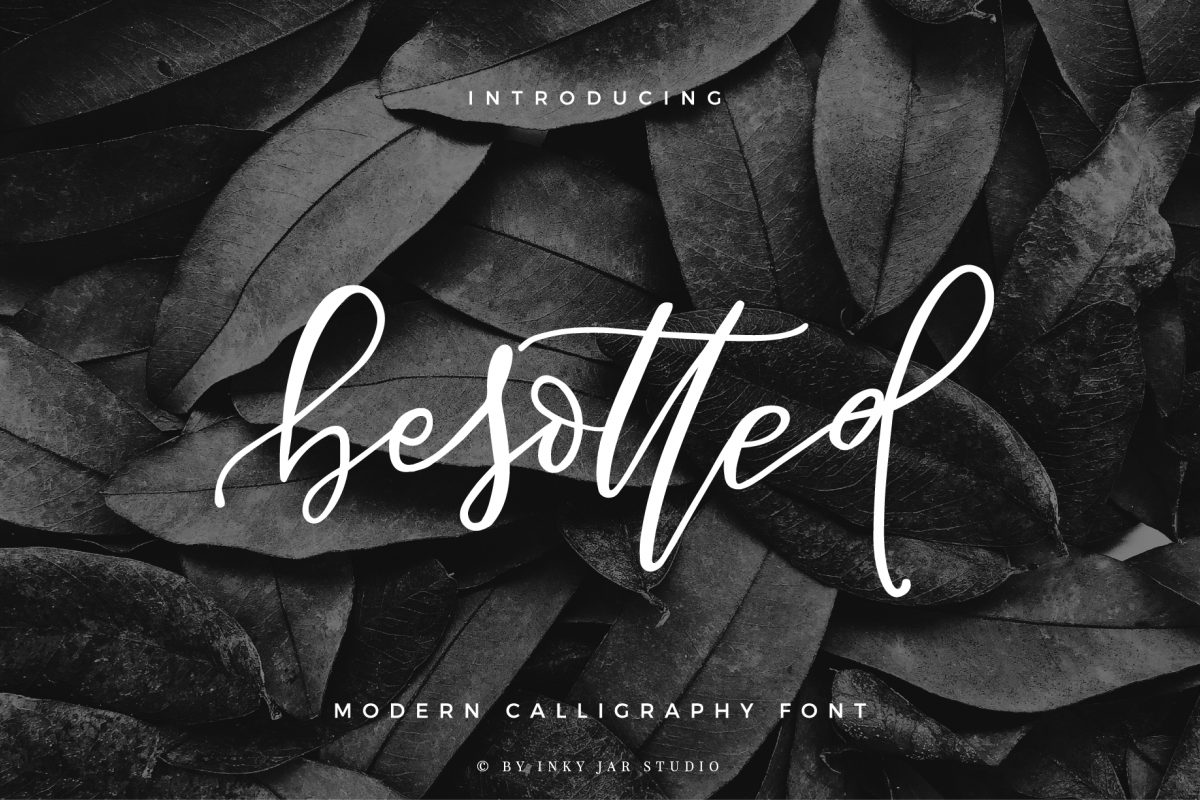 Besotted Modern Calligraphy Script example image 1