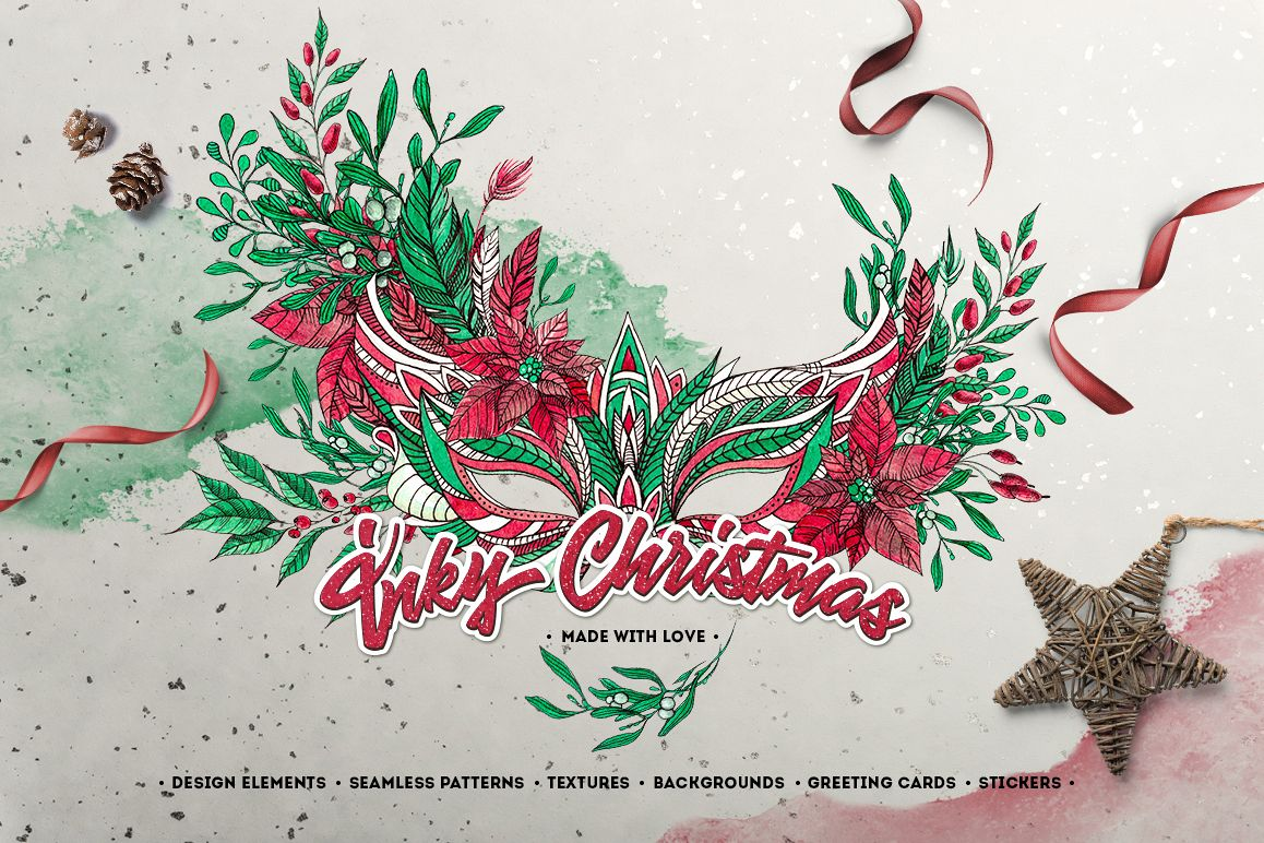 Inky Christmas Huge DIY Set example image 1