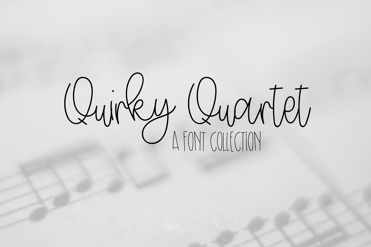 Quirky Quartet Font Collection example image 1