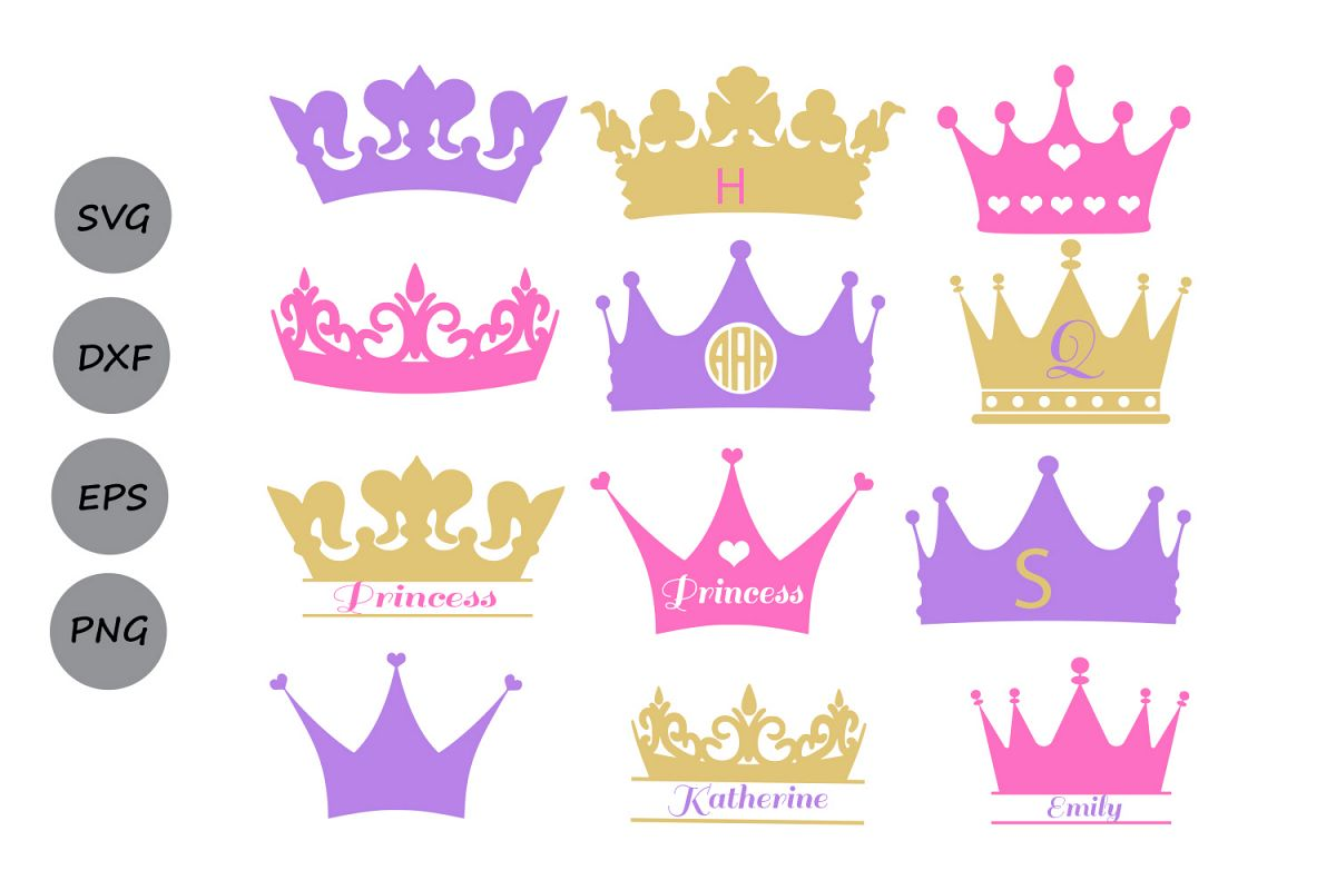 Crown Svg Crown Monogram Svg Princess Crown Svg Crowns Svg Crown Clipart