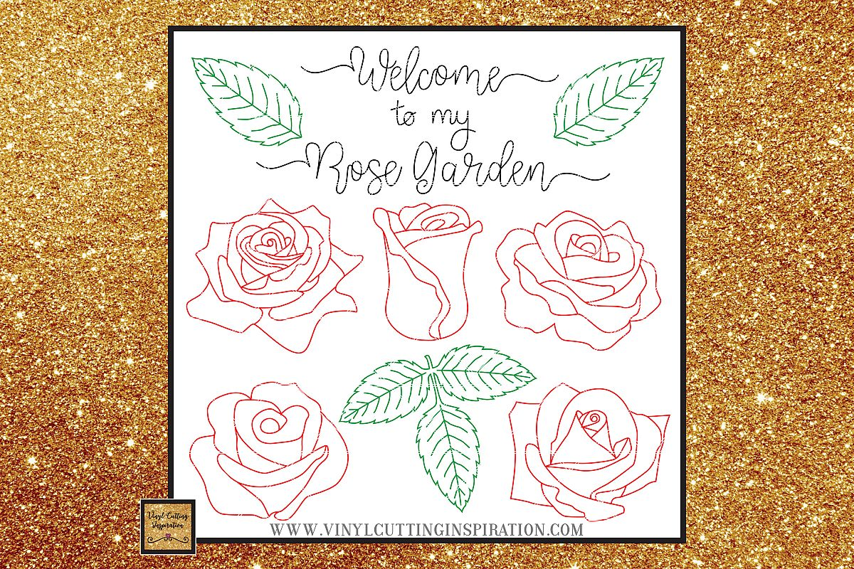 Foil Quill Designs Foil Quill Sketch Rose Svg Foiling SVG example image 1