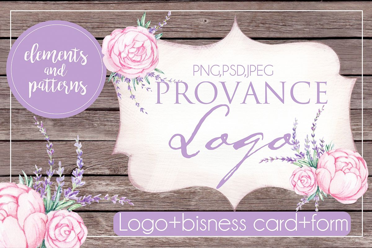 PROVANCE watercolor logo example image 1