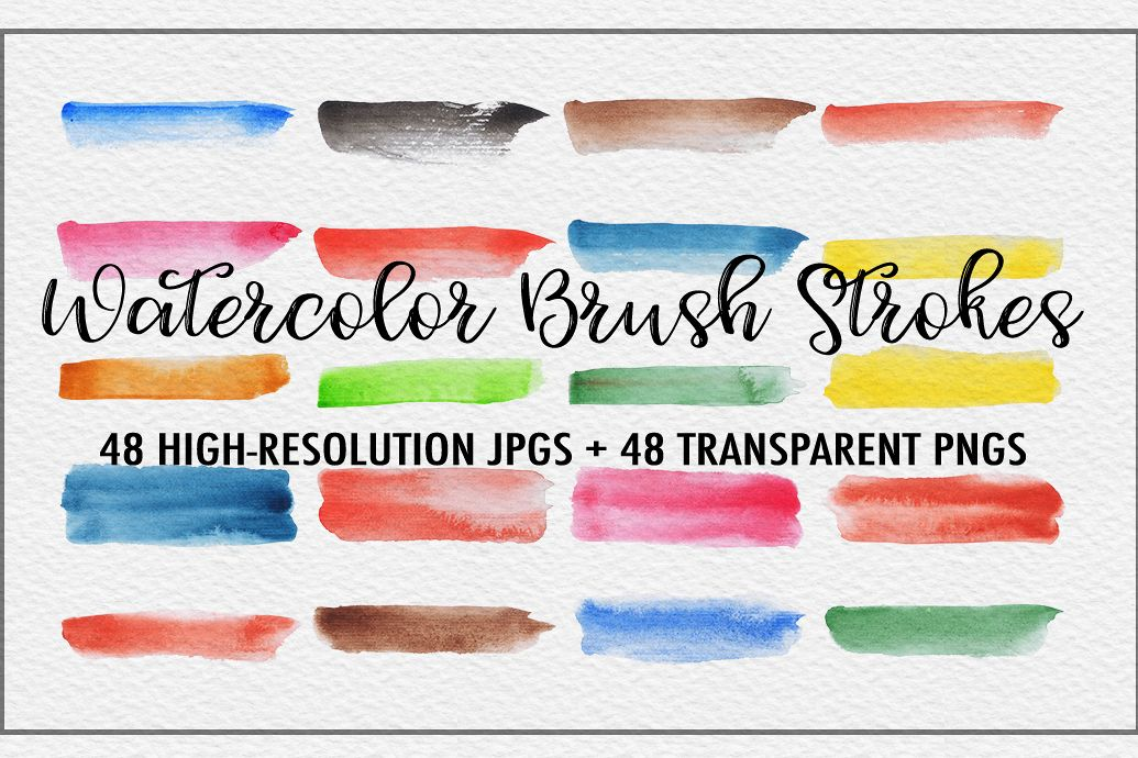 Watercolor Brush Strokes example image 1
