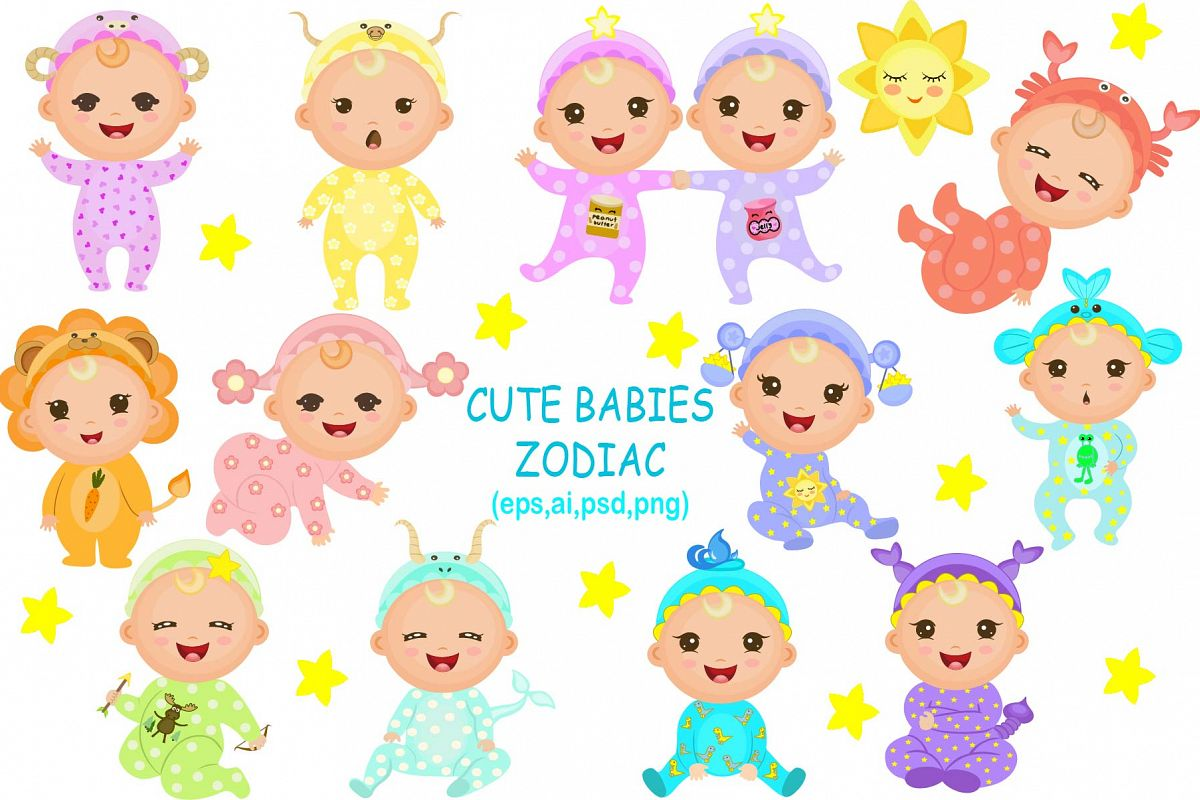 Cute Babies Zodiac example image 1