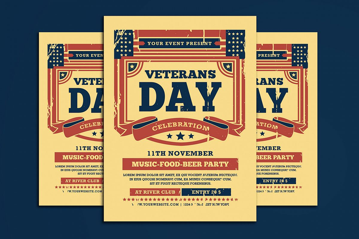 Veterans Day Flyer example image 1