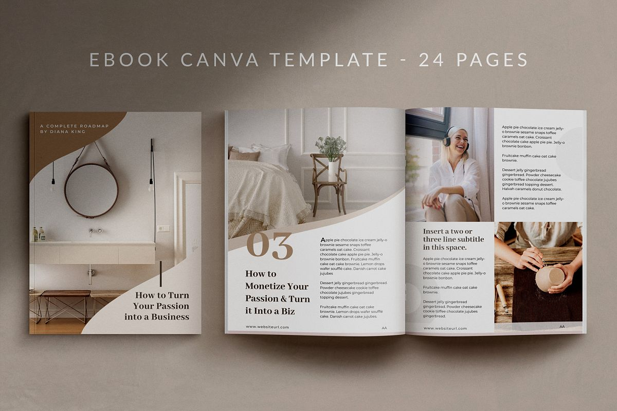 eBook or Lead Magnet Canva Template | Nordic example image 1