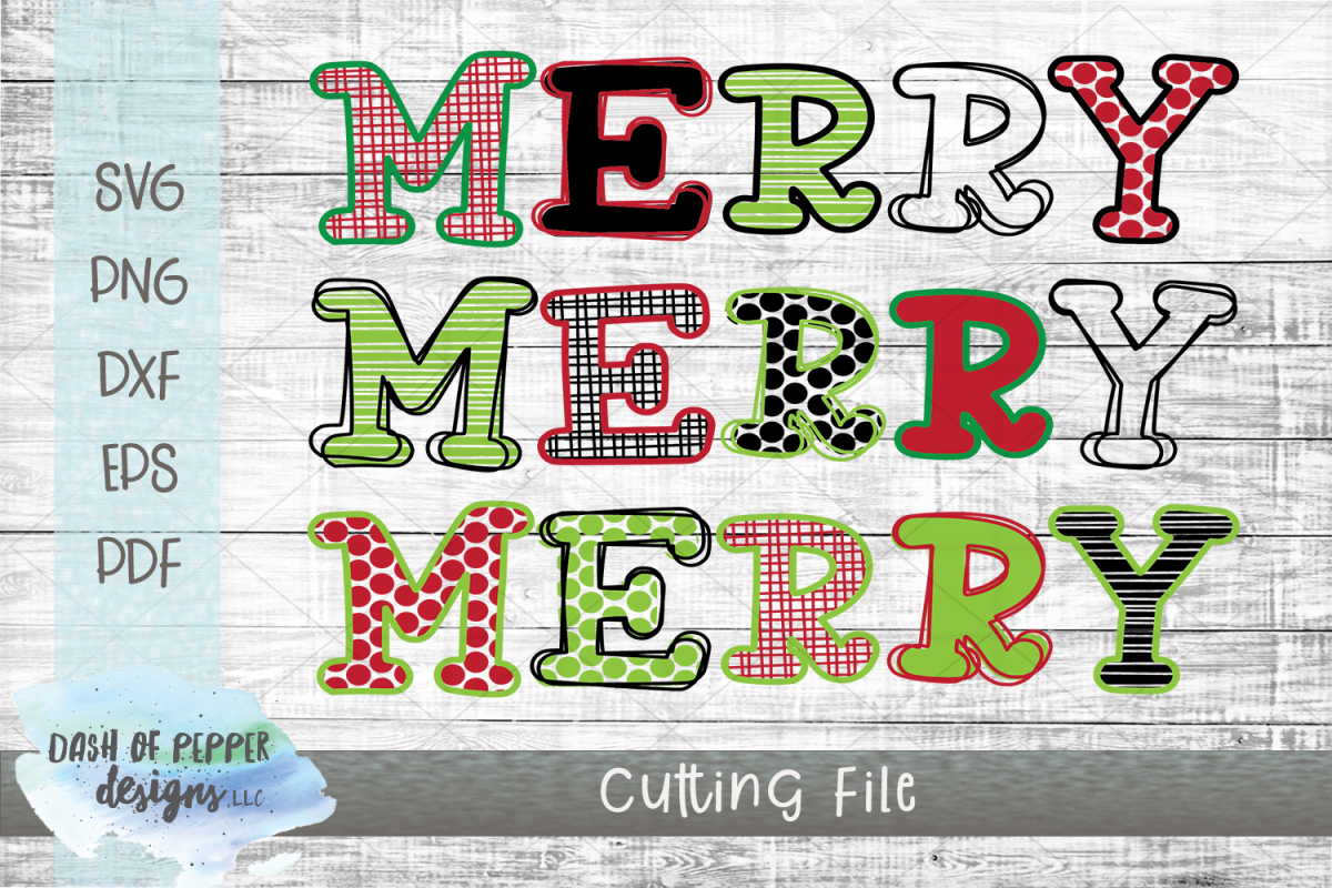 Merry Merry Merry SVG - A Christmas SVG example image 1