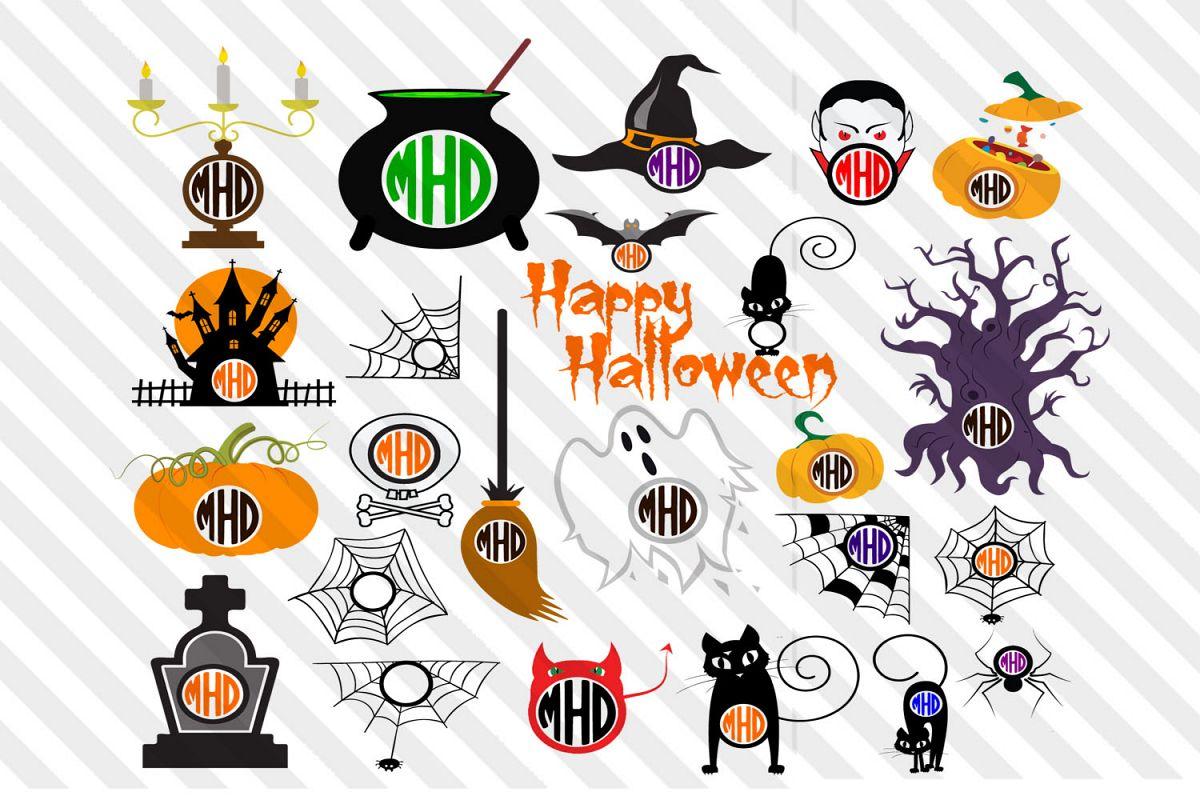 Halloween,pumpkins,Horror,Font,Devils,Vector,logo,clip arts example image 1