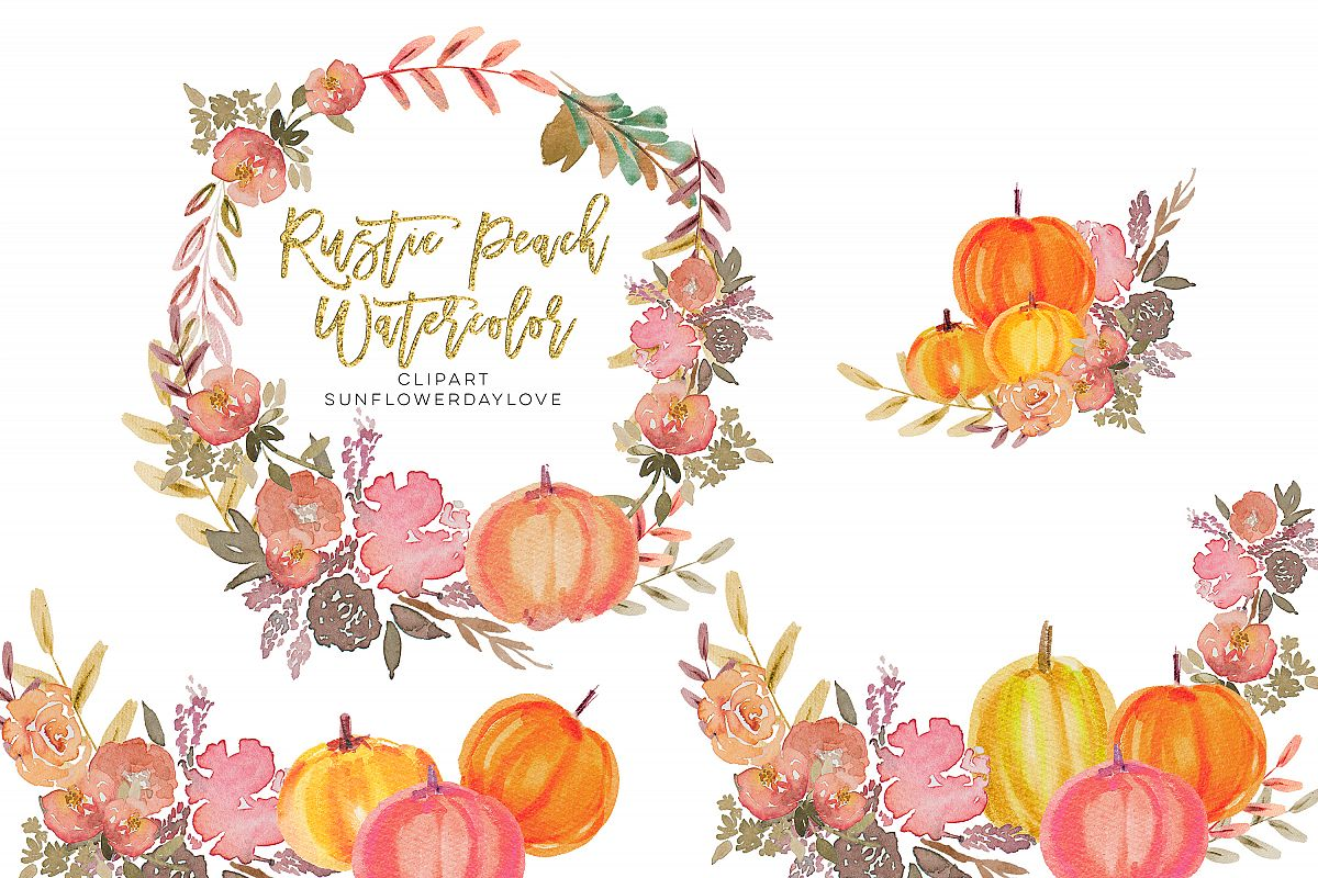 Thanksgiving Pumpkin PNG Clipart, peach pumpkin example image 1
