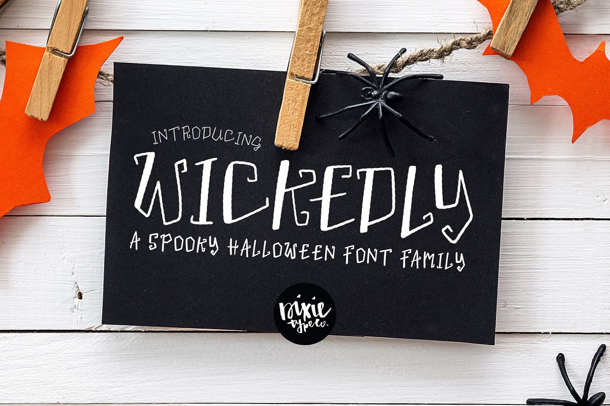 """""""Wickedly"""" a Decorative Halloween OTF Font Family example image 1"""