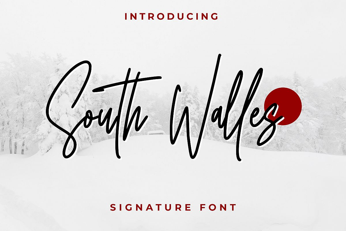 South Walles Signature Font example image 1