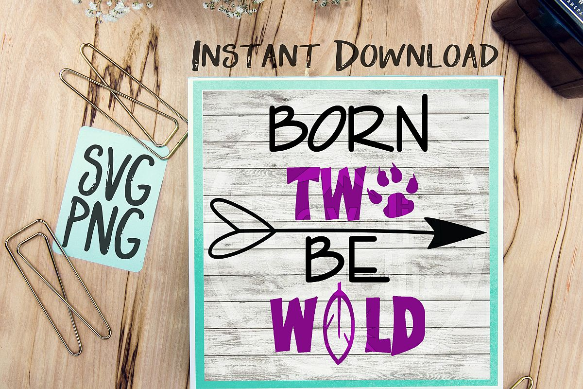 Born Two Be Wild SVG Image Design for Vinyl Cutters Print DIY Design Brother Cricut Cameo Cutout  example image 1