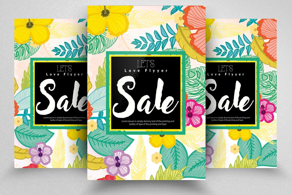 Sale Typography Poster/ Flyer example image 1