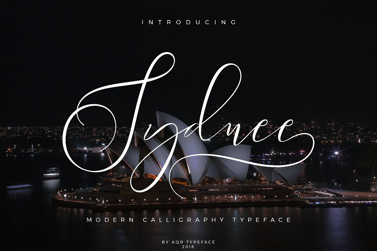 Sydnee Modern Calligraphy Font example image 1