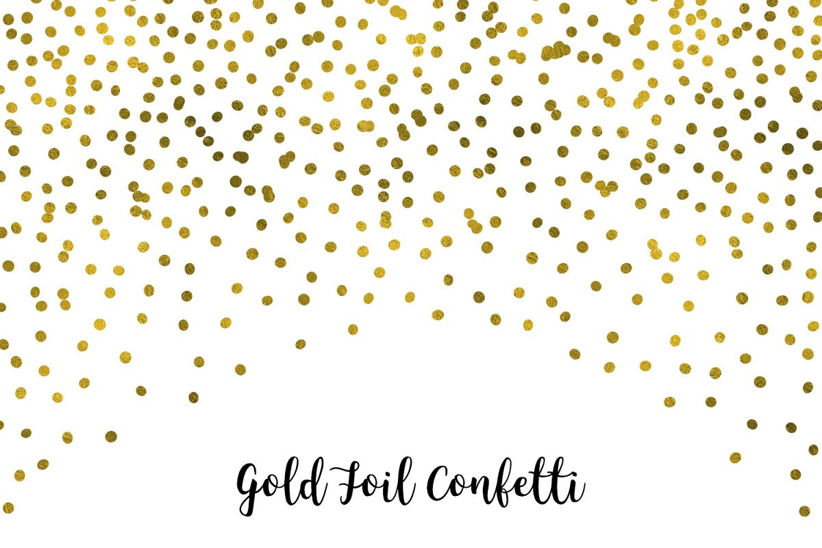 Gold Foil Confetti, Transparent PNG example image 1