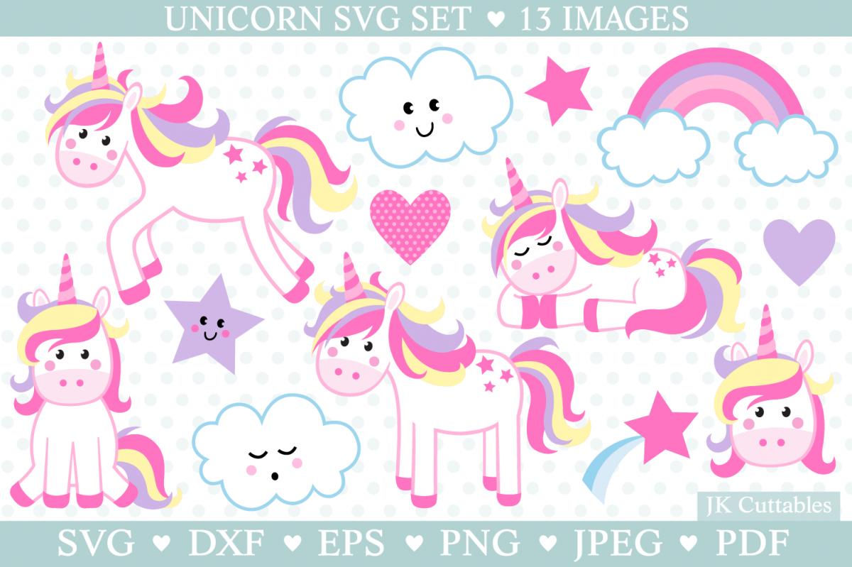 Unicorn Svg, Unicorn Svg Cut Files example image 1