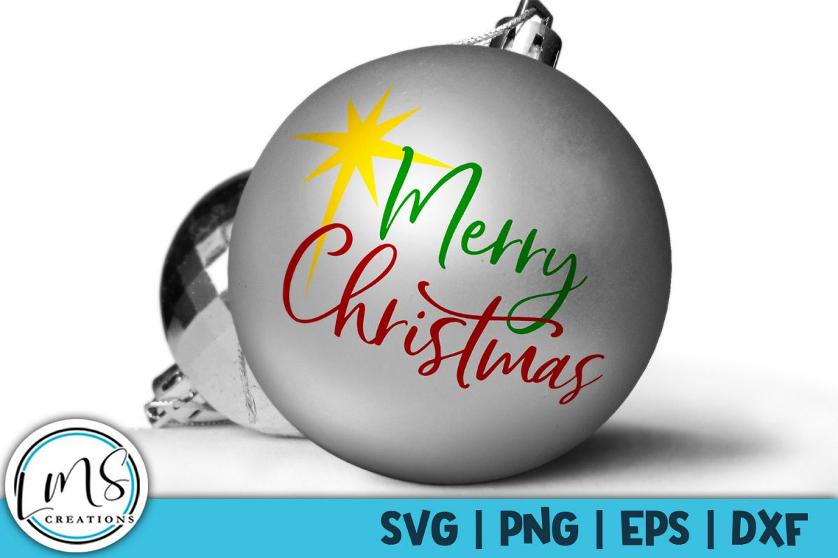 Merry Christmas Ornament Svg.Merry Christmas Svg Png Eps Dxf