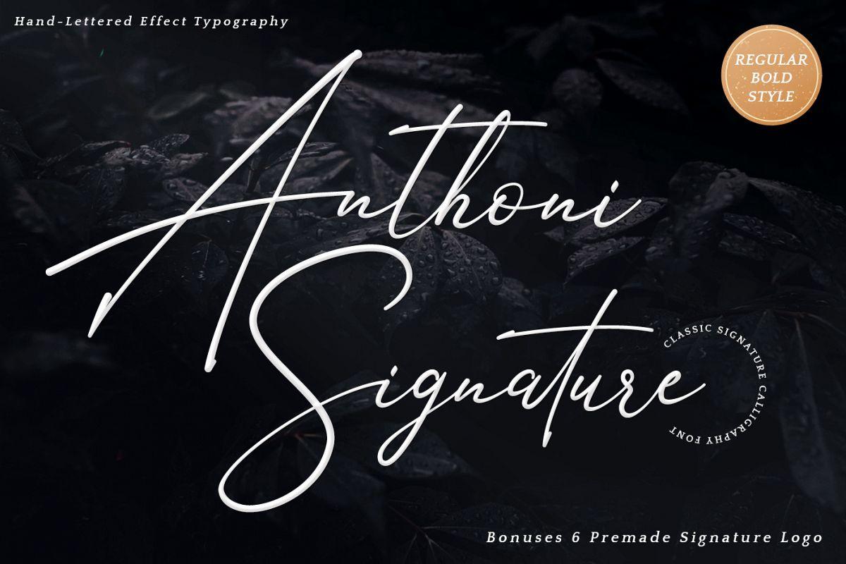 Anthoni Signature example image 1