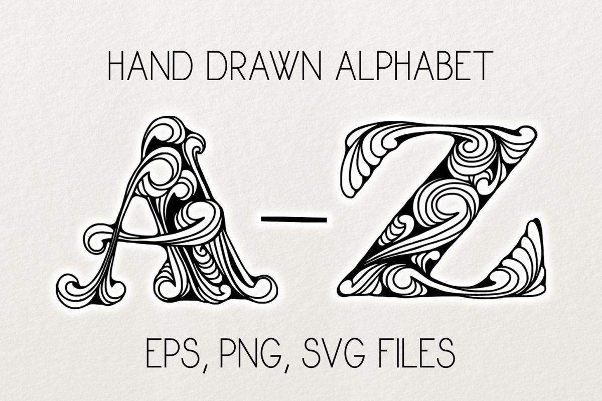 Alphabet clipart & vector example image 1