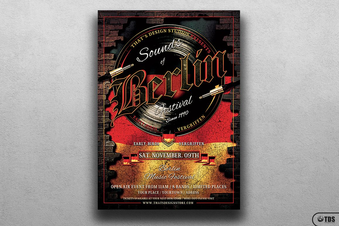 Sounds of Berlin Flyer Template example image 1