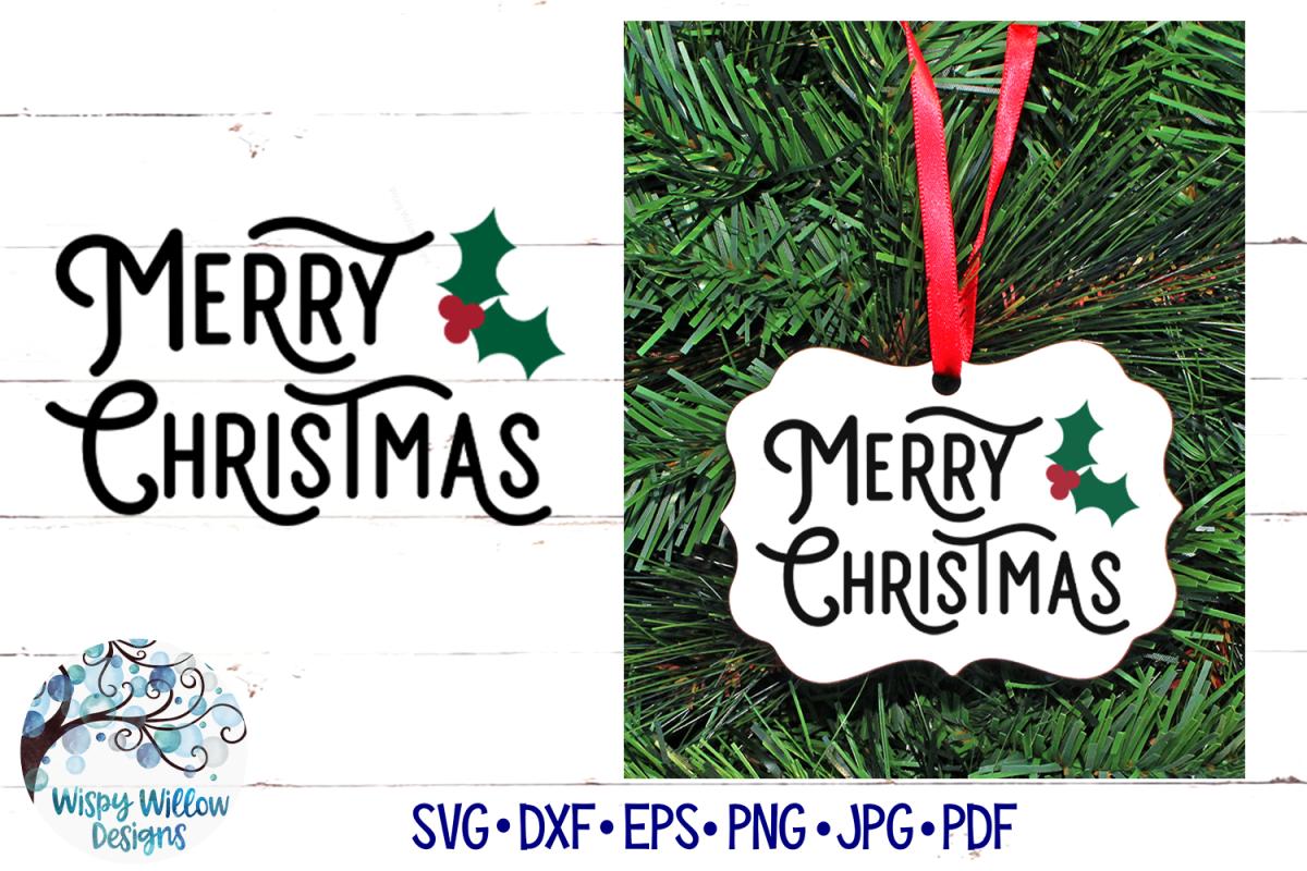 Merry Christmas SVG   Retro Christmas SVG File example image 1