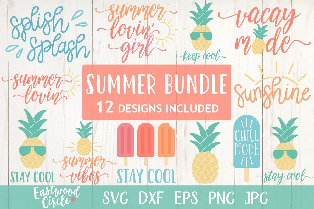 Summer SVG Bundle - Cut Files for Crafters example image 1