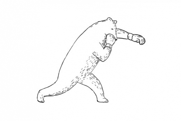 Kodiak Bear Left Straight Punch Drawing example image 1