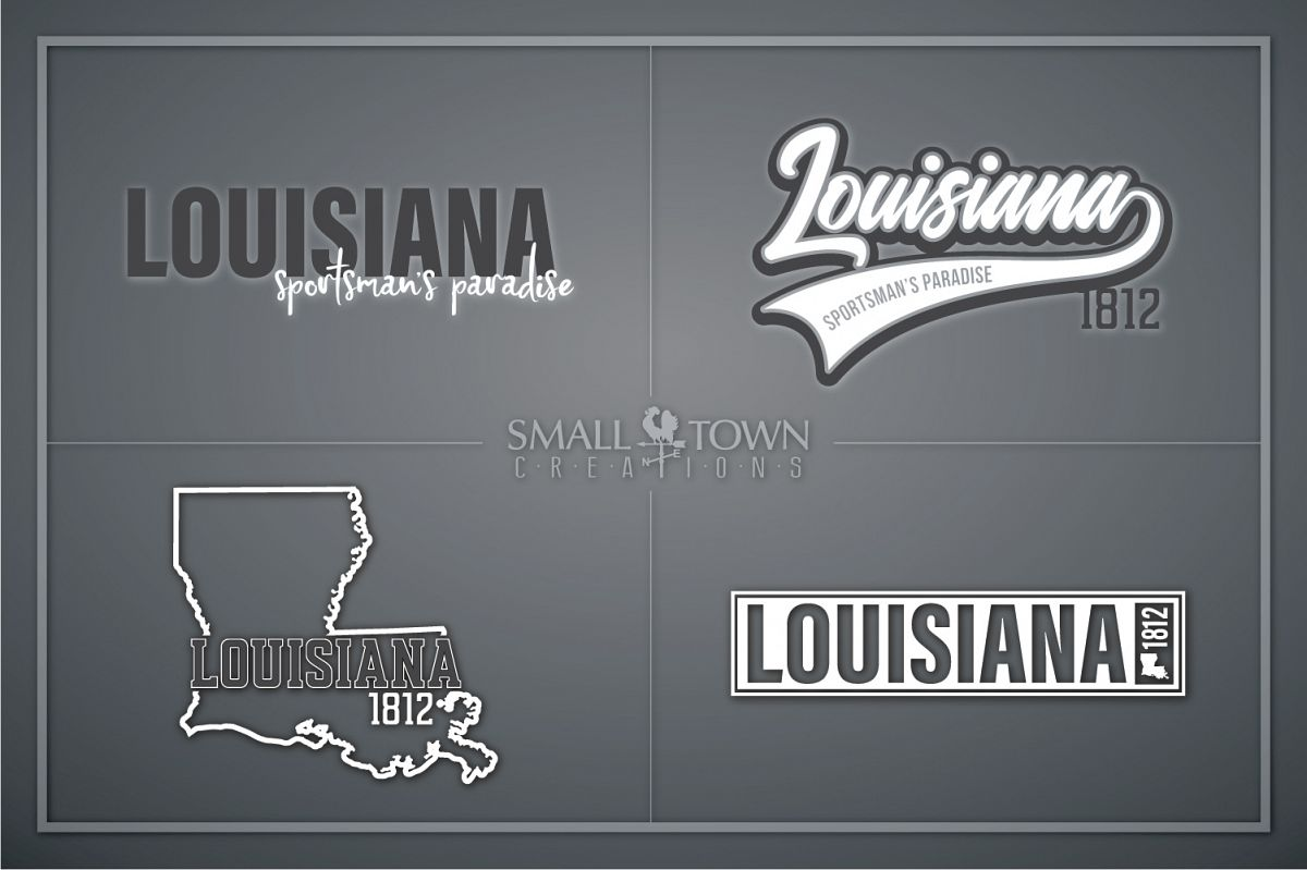 Louisiana, Sportsman's Paradise, Logo, PRINT, CUT & DESIGN example image 1