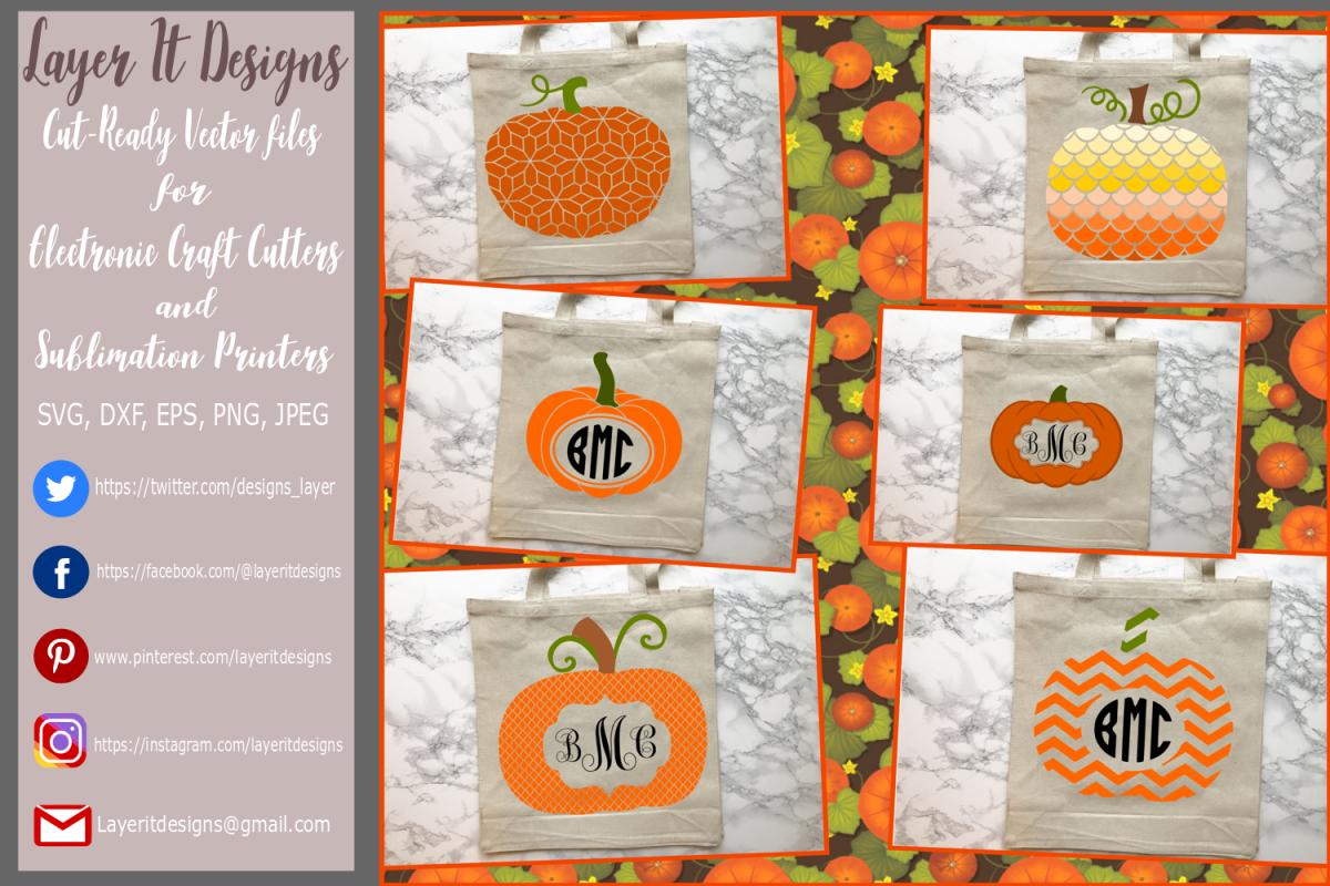 Pumpkin/ Monogram Pumpkin Frame Design File example image 1