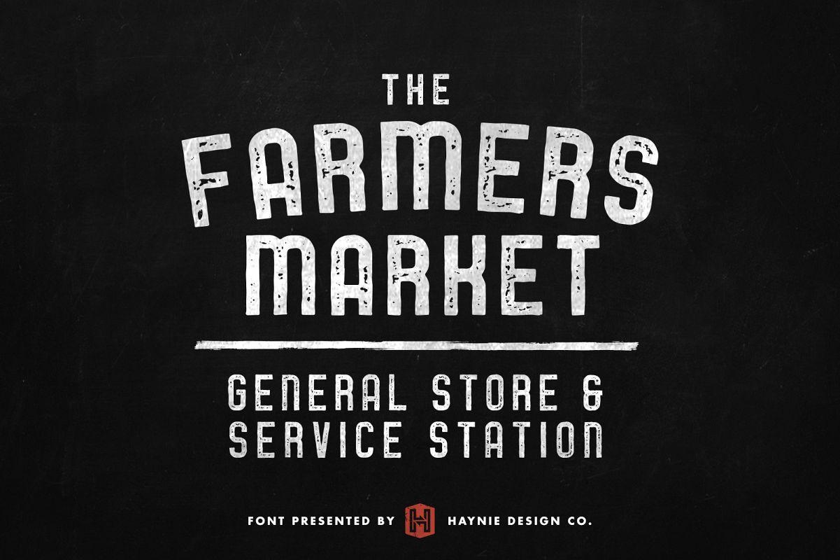 Service Station | Vintage Farmers Market Font example image 1