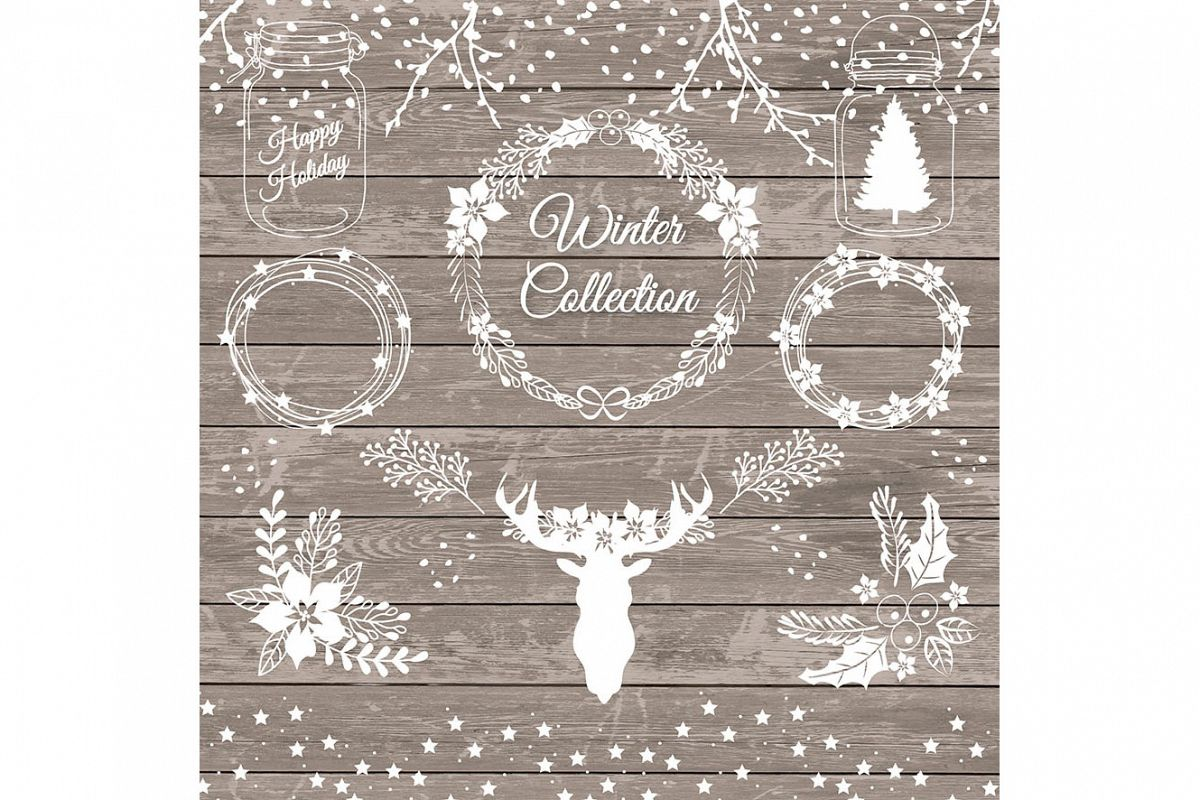 Vector rustic christmas 1 example image 1