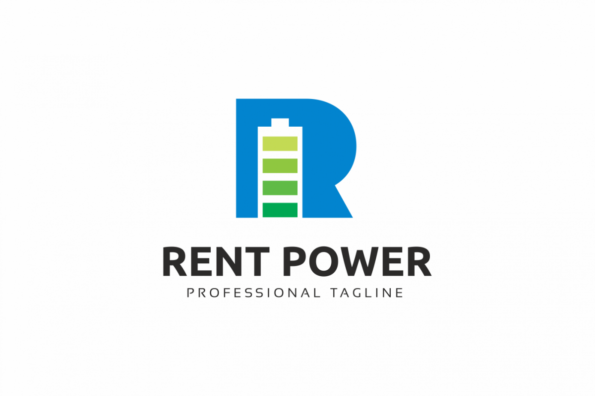 Rent Power R Letter Logo example image 1